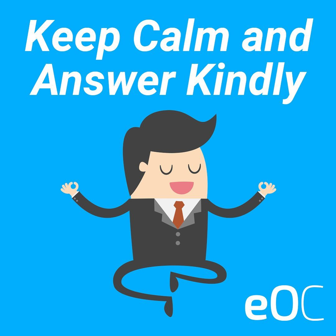 Keep calm and answer kindly to reviews